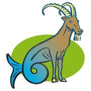 Stock Illustration of Capricorn astrological sign, illustration