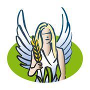Stock Illustration of Virgo astrological sign, illustration