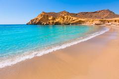cocedores beach in murcia near aguilas spain - stock photo