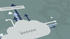 Motion info graphics ethnic business strategy ambition flow chart animation - stock footage