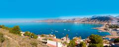 la azohia beach murcia in mediterranean spain - stock photo