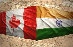 canada and india - stock illustration