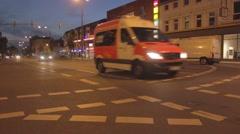 Slider Shot on Street (Dortmund Germany) Stock Footage