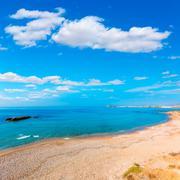 mazarron beach in murcia spain at mediterranean - stock photo