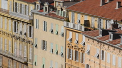 NICE, FRANCE OLD TOWN BUILDINGS - stock footage