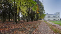 Russia. Saint-Petersburg. Gatchina. Autumn in palace park Stock Footage