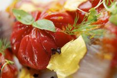 tomato salad - stock photo