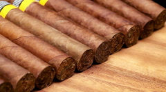 The Cuban cigars, hand made - stock footage
