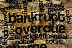 Bankrupt and overdue concept Stock Photos