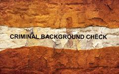 criminal background check - stock photo