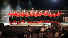 Dancers perform nostalgic Israeli folk dances during Harvest Festival - stock footage