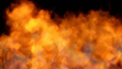 fire on black - red hot turbulent burning - stock footage