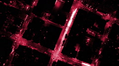 Aerial building energy light night motion graphics communication fibre optic Stock Footage