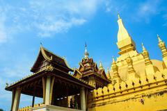 Pha That Luang , Vientian , Loas - stock photo