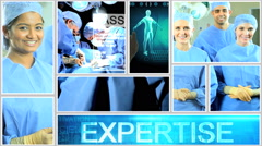 Doctor healthcare hospital motion graphics operation patient surgery touchscreen Stock Footage