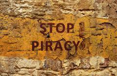 stop piracy - stock photo