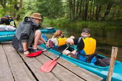 Expedition to kayaking - stock photo