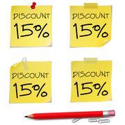 discount text - stock illustration