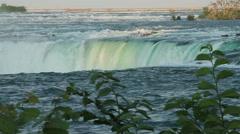 Horseshoe Falls Niagara Falls at the Canadian Side Stock Footage