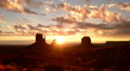 Monument Valley Sunrise 10 Timelapse Clouds USA Footage