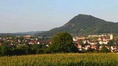 Hohenhewen- Stadt Engen . Swiss. - stock footage