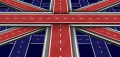 Great britain highway flag Stock Illustration