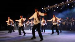 Dancers perform nostalgic Jewish folk dances from the exile - stock footage