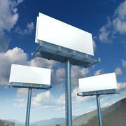 billboards blank advertising - stock illustration