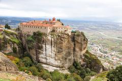Agios stephanos monastery at meteora monasteries, greece Stock Photos