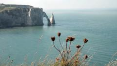 Etretat cliffs Stock Footage