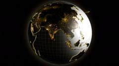 3D business cloud globe motion graphics internet network technology rotation USA - stock footage
