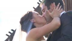 Give Me A Kiss Bride and Groom Stock Footage