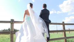 Together Forever Bride and Groom Stock Footage