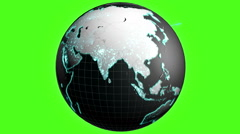 3D cloud business cloud globe motion graphics internet network technology USA - stock footage