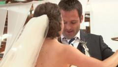 Bride and Groom First Dance Stock Footage