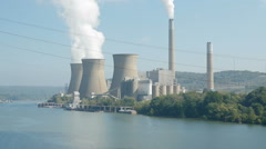 FirstEnergy Bruce Mansfield Power Station 2 Stock Footage