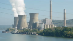4K FirstEnergy Bruce Mansfield Power Station 3 Stock Footage