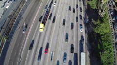 Aerial Shot of Traffic on 134 Freeway in Burbank Stock Footage