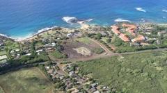 Kaneiolouma heiau, poipu, kauai, hawaii Stock Footage