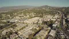 Aerial Shot of Studio City in San Fernando Valley Stock Footage
