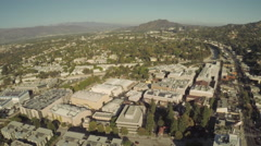 Aerial Shot of Studio City in San Fernando Valley - stock footage