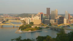 4K Pittsburgh Skyline 7 Stock Footage