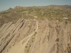 Aerial Shot of Vasquez Rocks in Aqua Dulce Stock Footage