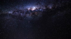 Milky way galaxy timelapse crossing the frame  4k Stock Footage