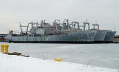 U.S. Navy Amphibious Cargo Ships - stock photo