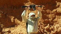 Enthusiastic terrorist terrorism Stock Footage