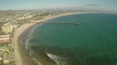 Aerial Shot of Ventura Pier  Stock Footage