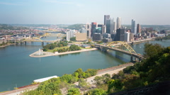 Pittsburgh Duquesne Incline and Skyline Timelapse 1 Stock Footage
