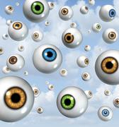 Vision and eye ball background Stock Illustration