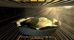 Stock Illustration of australian dollar money pie baking in the oven